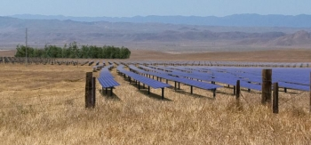 An artist rendering of what the California Valley Solar Ranch project will look like post-construction .  courtesy of SunPower Corporation