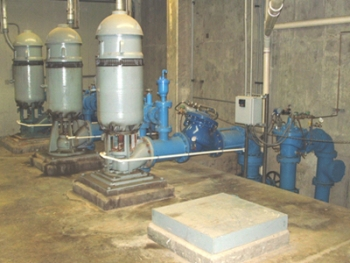 The high service pumps at the St. Peters Water Treatment Plant are almost 30 years old and will be replaced with premium efficiency motors. | Photo courtesy of Russ Batzel