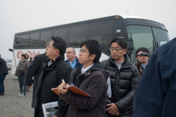TEPCO officials tour the Hanford site to learn about cleanup technologies that could be used in the cleanup of the Fukushima Daiichi Nuclear Power Plant accident that occurred in 2011.