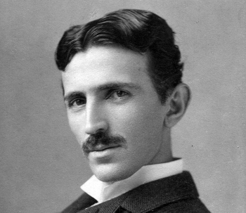 Nikola Tesla in or around 1890, when the inventor was in his mid-30s.   Photo is in the public domain. Image courtesy of the Library of Congress.