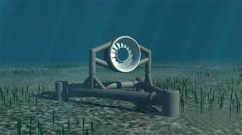 The OpenHydro turbines are designed to be deployed directly on the seabed and are silent and invisible from the surface.| Courtesy of Snohomish PUD