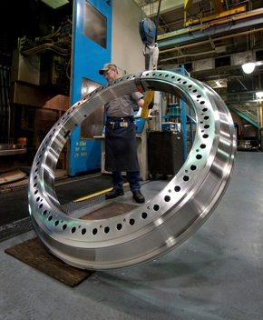 Some of Timken's bearings are so large that a small car could conceivably drive through the center. | Photo courtesy of The Timken Company