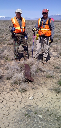 A shell is found during a walkdown of the Idaho site.