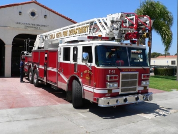 Truck 51 of the Chula Vista Fire Department.