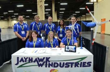 The University of Kansas placed second in the competition -- the multi-disciplinary team consists of aerospace engineering, mechanical engineering and business students.