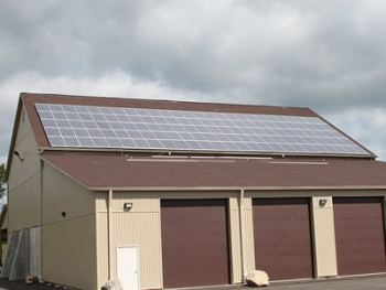 Solar panels have been installed at a shelter facility near Ulster County Fairgrounds. | Photo courtesy of Ulster County