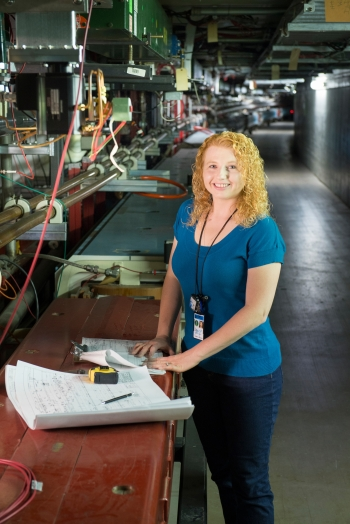 Linda Valerio is a mechanical engineer at Fermi National Accelerator Laboratory (Fermilab). She attended Marquette University, where she earned a bachelor of science degree in mechanical engineering.
