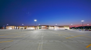 The LED Site Lighting Specification ensures light uniformity across approximately 500,000 square feet of parking surface at the Walmart Supercenter in Lawrence, Kansas. Eliminating bright and dark spots helps ensure safety and security. Credit: Walmart