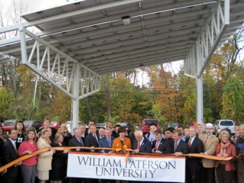 Sen. Menendez, Rep. Pascrell, John Lushetsky and other officials at the ribbon cutting.