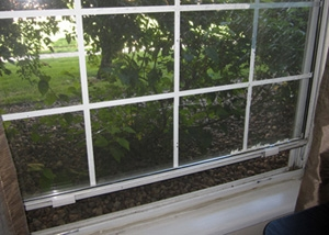 The original windows in Andrea's home. | Photo courtesy of Andrea Spikes.
