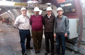 In 2013, WIPP had over 450 visitors, including more than 30 international representatives from many different nations as supported by International Programs. Additionally, CBFO representatives participated in many international forums and exchanges. In November 2013, CBFO Manager Joe Franco (far left in photo) participated in the International Association for Environmentally Safe Disposal of Radioactive Materials (EDRAM) Fall 2013 meeting in Antwerp, Belgium. As shown, part of the visit for EDRAM included viewing the Underground Research Laboratory HADES, Mol, Belgium, which was part of the EDRAM meeting. Representing DOE, Franco provided EM and Nuclear Energy updates at the meeting. It included discussions of technical issues addressing operational safety, with WIPP having an exemplary role because of its more than 14-year operational history. HADES was excavated at a depth of about 220 meters beginning in the early 1980s to study the feasibility of geological disposal in the Boom Clay in Belgium. EDRAM participants are shown in front of the PRACLAY gallery, where a large-scale heater experiment was installed and is scheduled to begin operating in 2014 for about a 10-year period.