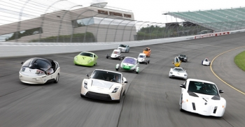 X Prize contenders take part in on-track testing at Michigan International Speedway   Courtesy of Progressive Automotive X Prize