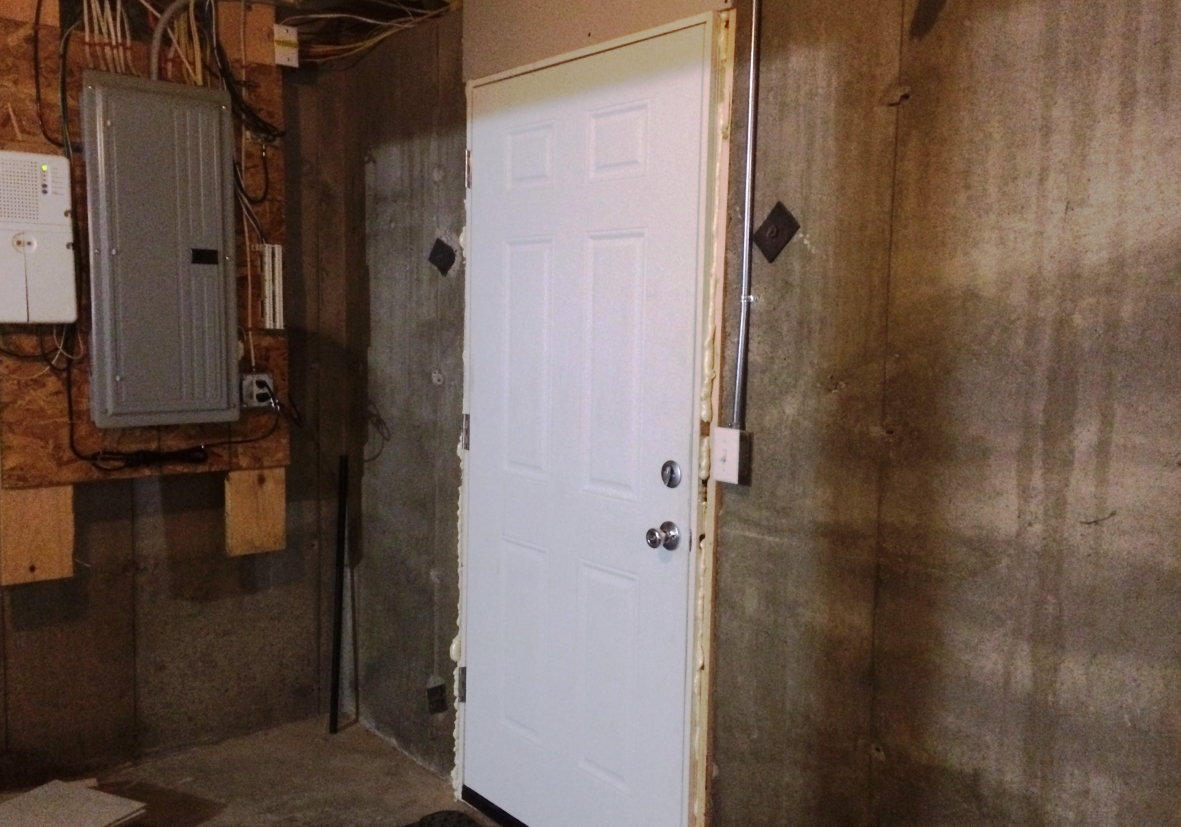 An insulated door was an easy upgrade from the steel cellar door that let cold air & Insulation Troubles: A Story of a House That Never Stayed Warm ...