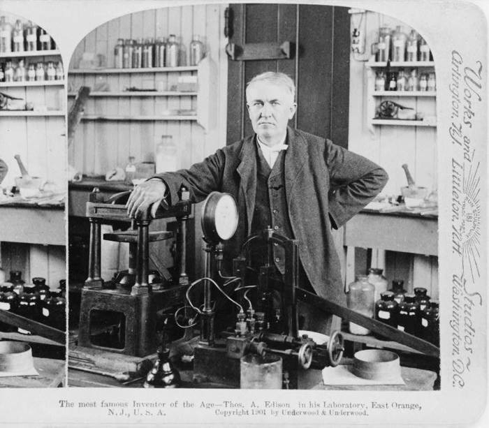 Thomas A Edison In His Invention Factory 1901