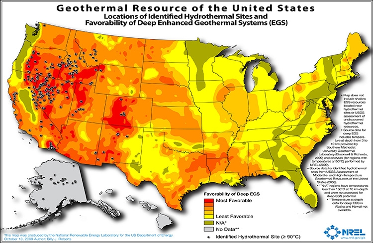 Awardwinning Research Takes A Fresh Look At Geothermal Energy - Solar power map us