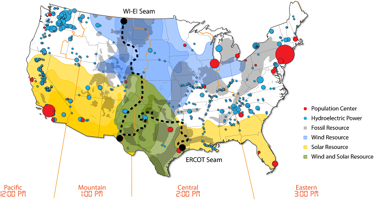East Meets West Lab Study Focuses On Connecting Power Grid From - East coast of united states