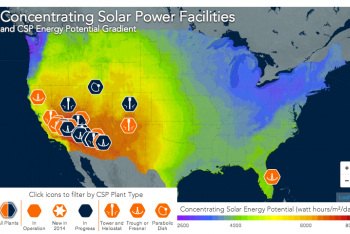 Concentrating Solar Power Facilities and Solar Potential