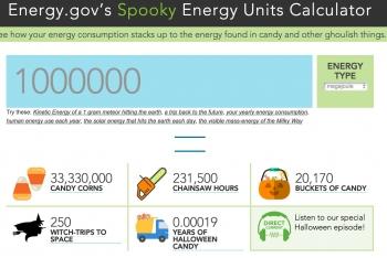Energy.gov's Spooky Energy Units Calculator