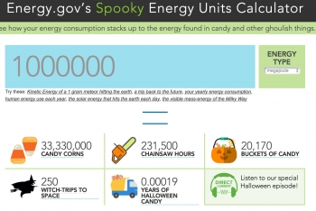 Energy.gov's Spooky Energy Units Calculator