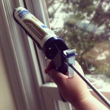 "Sealing air leaks around windows and doors can save you energy and money. | Courtesy of Flickr user <a href=""http://www.flickr.com/photos/alykat/6737403523/"">Alyson Hurt</a>."