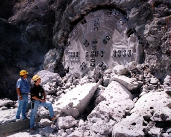 April 25, 1997: Yucca Mountain exploratory drilling