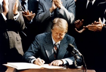 August 4, 1977: President Carter signs the Department of Energy Organization Act