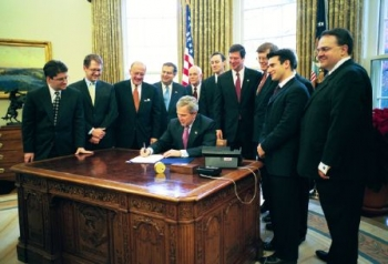 December 3, 2003: Bush signs Nanotechnology R&D Act