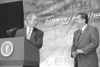 June 28, 2001: President Bush announces $85.7 million in Federal grants