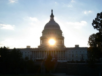 Sun Shines through the Capitol Building | Credit: GC Photographer Daniel Zazueta