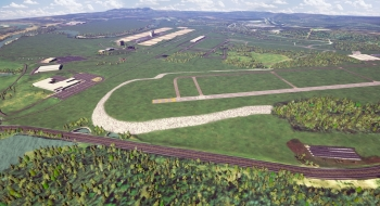 An artist rendering of the East Tennessee Technology Park when cleanup is complete in 2020. EM is working to complete cleanup at the site so it can be transferred and converted into a privately-owned and operated industrial park.