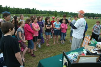Area students participated in an Eco Fair sponsored by the Paducah Citizens Advisory Board.
