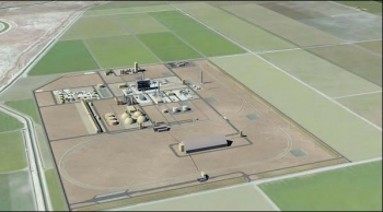 Rendition of HECA Polygen Power Plant with fertilizer production facility.