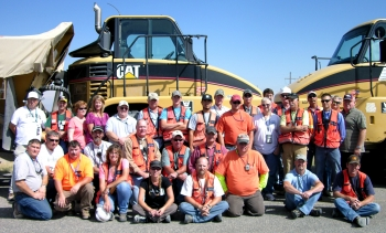 On Thursday, August 25, 2011, Idaho CERCLA Disposal Facility (ICDF) employees and Nick Lombardo, president of S.M. Stoller Corporation, celebrated four years without a recordable injury