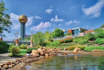 Located on the banks of the Tennessee River and in the foothills of the Great Smoky Mountains, the City of Knoxville is a leader in protecting natural resources while promoting economic and social vitality. | Photo courtesy of the City of Knoxville.