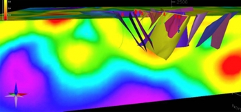 Geothermal energy in the subsurface is better understood through data visualization, as in this model developed by Ormat Technologies on the McGinness Hills geothermal project in Nevada. As the National Geothermal Data System continues to gather scientific information  from geothermal projects nationwide, access to this free, open-source tool will multiply and can hope to reduce the costs and risk of geothermal energy development.