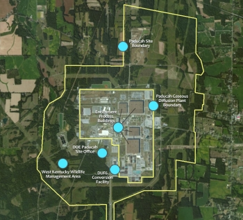The 3,556-acre Paducah Site is located in western Kentucky