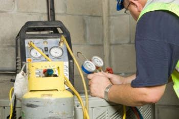 A refrigerant leak is one common air conditioning problem. | Photo courtesy of ©iStockphoto/BanksPhotos.