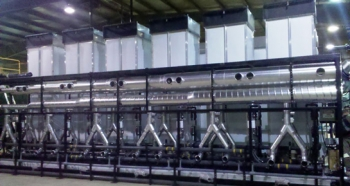 Developed as a result of lessons learned from the NETL funded demonstration project, the Altela 600 water treatment system (shown above) treats about 25,000 gallons per day of produced and flowback water from hydraulic fracturing. [Photo courtesy of Altela Inc.]