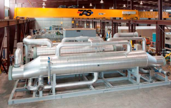 A new high efficiency expander design at the Beowawe Flash plant utilizes low temperature geothermal fluids to generate an additional 2.5 MW of electric power.
