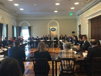 The White House and DOE announce the Asset Score National Leadership Network at the Eisenhower Executive Office Building in Washington, D.C., on Jan. 28, 2016. Photo Credit: Amy Konigsburg, U.S. Department of Energy