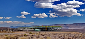 The McGuiness Hills Geothermal Power Plant in Lander County, Nevada generates 30 MW and has been in operation since 2012 | photo courtesy of Geothermal Resources Council