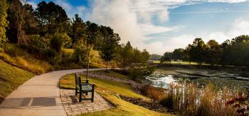 Pond trail located at Oak Ridge National Laboratory.
