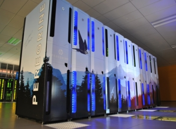 NREL teamed with Hewlett-Packard (HP) and Intel to develop the innovative warm-water, liquid-cooled Peregrine supercomputer, which not only operates efficiently but also provides hot water to the ESIF, meeting all of the building's heating needs.