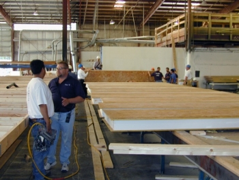 Foam core structural insulated panels are built in a factory, shipped to the jobsite, and assembled. | Photo courtesy of Michael Baechler.