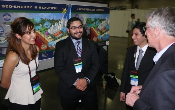 Students from University of Texas-Pan American won 2nd place for their infographic and took home the People's Choice Award in the National Geothermal Student Competition in 2014.