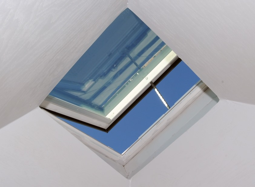 skylight lighting. a skylight can provide lighting ventilation views and sometimes emergency egress