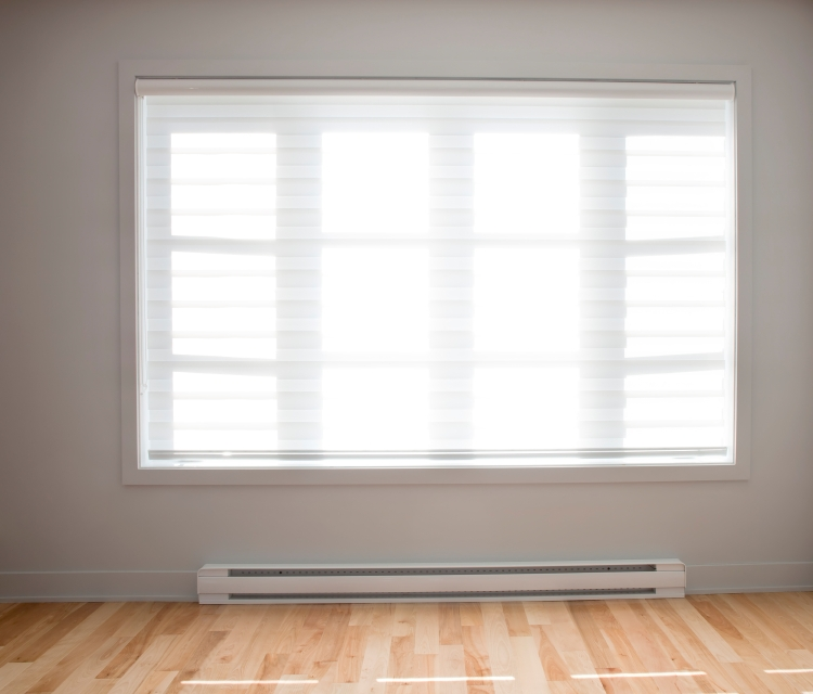 Baseboard heaters are one type of electric resistance heaters    Photo  courtesy of. Electric Resistance Heating   Department of Energy