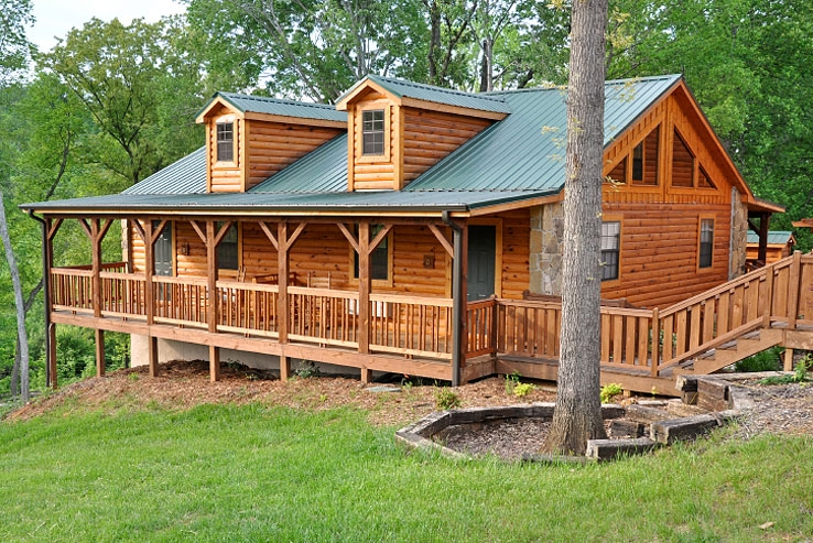 consider energy efficiency when designing or purchasing a log home photo courtesy of