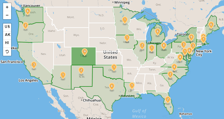 Offshore Wind Research And Development Department Of Energy - Map of wind farms in us