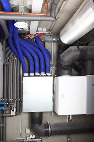 A Whole House Ventilation System With Dedicated Ducting In A New Energy Efficient  Home